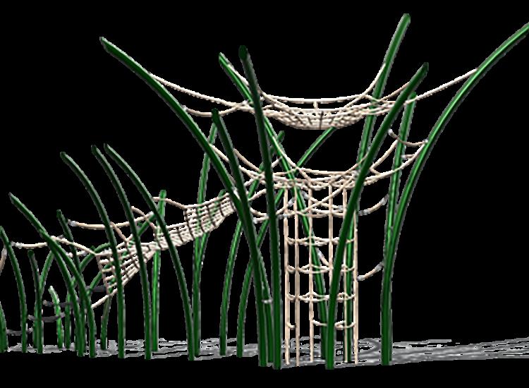 Arbusto tunel cuerda