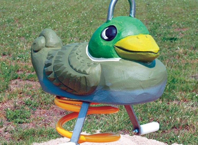 Resorte Pato verde